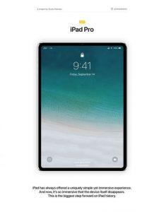 آیپد پرو مفهومی با صفحه نمایش 11.9 اینچی، FaceID، و پردازنده A12
